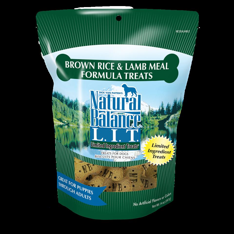 Natural Balance Natural Balance LIT Brown Rice & Lamb Dog Treats Regular 14oz