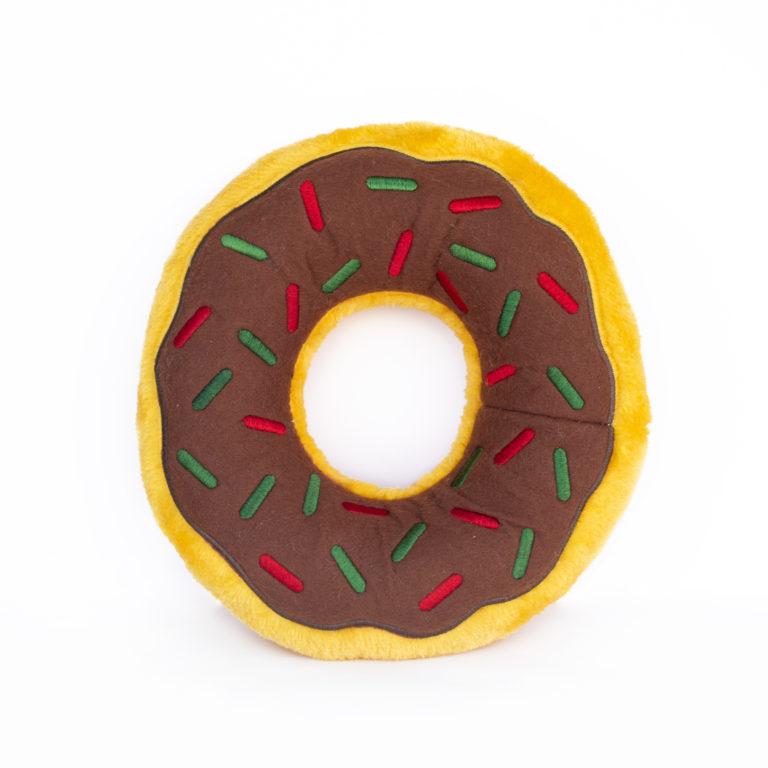Zippy Paws Jumbo Donutz Gingerbread Holiday Dog Toy