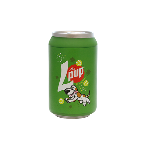 VIP Products Silly Squeakers Soda Can Lucky Pup Dog Toy