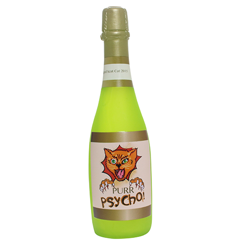 VIP Products Silly Squeakers Wine Bottle Purr Psycho  Dog Toy