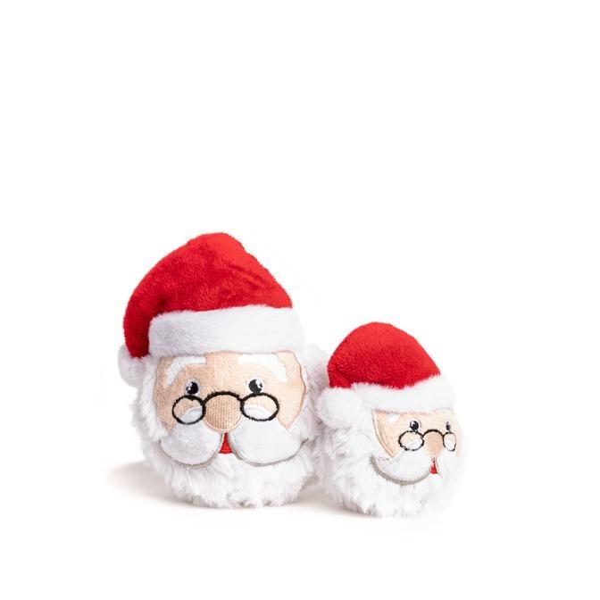 Fab Dog Fab Dog Faballs Christmas Santa Dog Toy Small