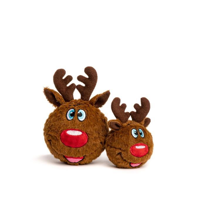 Fab Dog Fab Dog Faballs Christmas Reindeer Dog Toy Small