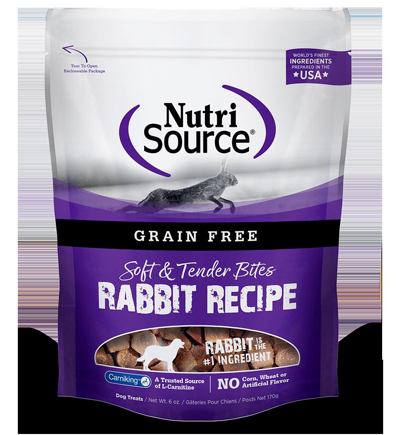 NutriSource NutriSource Grain Free Rabbit Bites Dog Treat 6oz