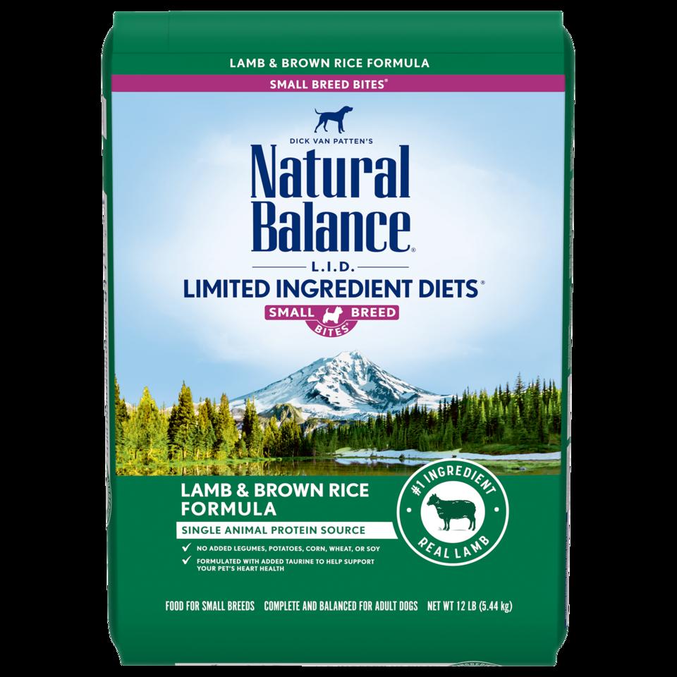 Natural Balance Natural Balance Limited Ingredient Diet Lamb & Brown Rice Small Breed Bites Dry Dog Food