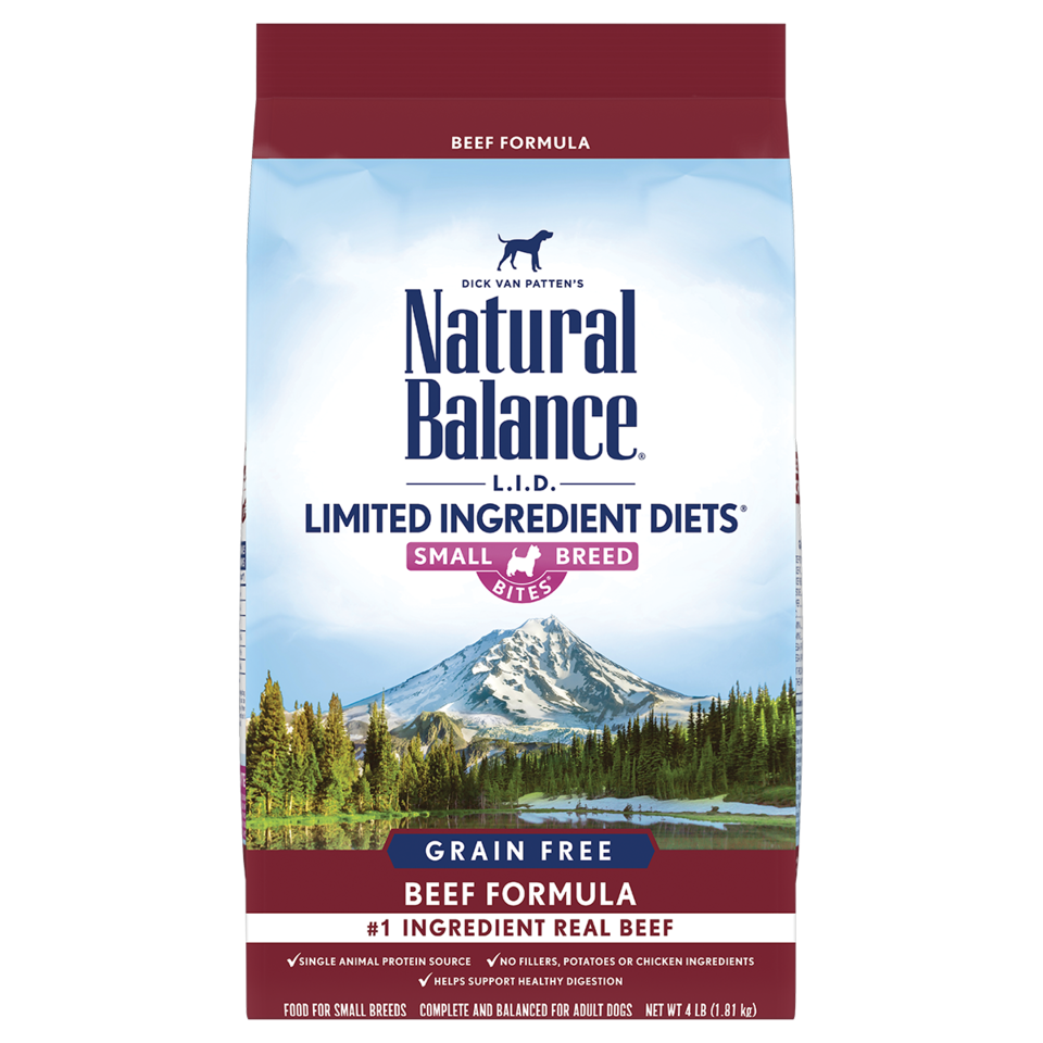 Natural Balance Natural Balance Limited Ingredient Diet High Protein Beef Small Breed Bites Dry Dog Food
