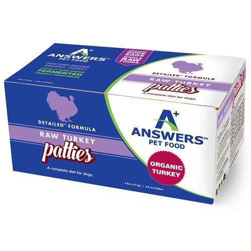 Answers Answers Detailed Turkey Patties Raw Dog Food 4#