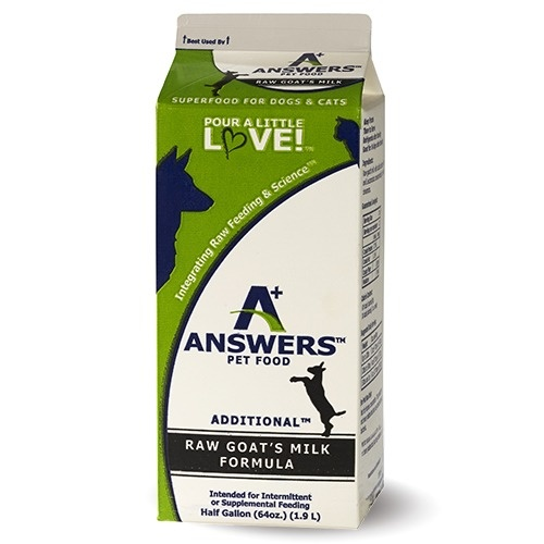 Answers Answers Additional Raw Goat's Milk Supplement