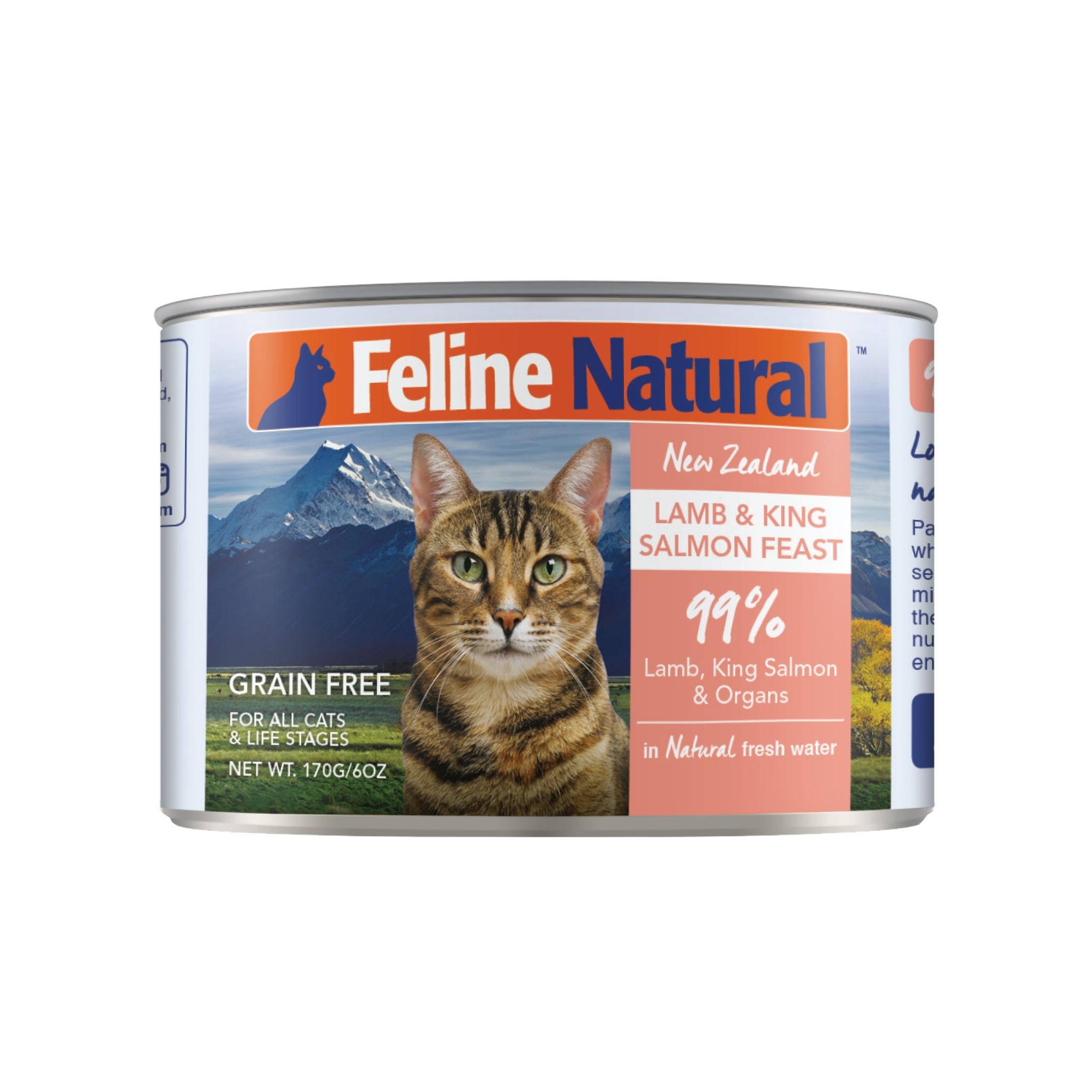 Feline Natural Feline Natural Lamb & King Salmon Feast Wet Cat Food 3oz