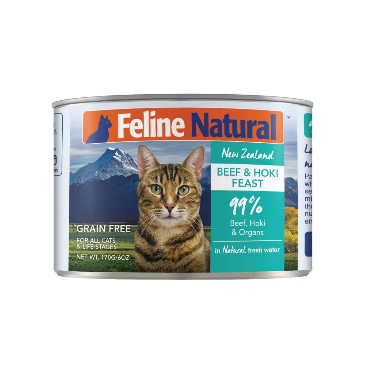 Feline Natural Feline Natural Beef & Hoki Feast Wet Cat Food 3oz