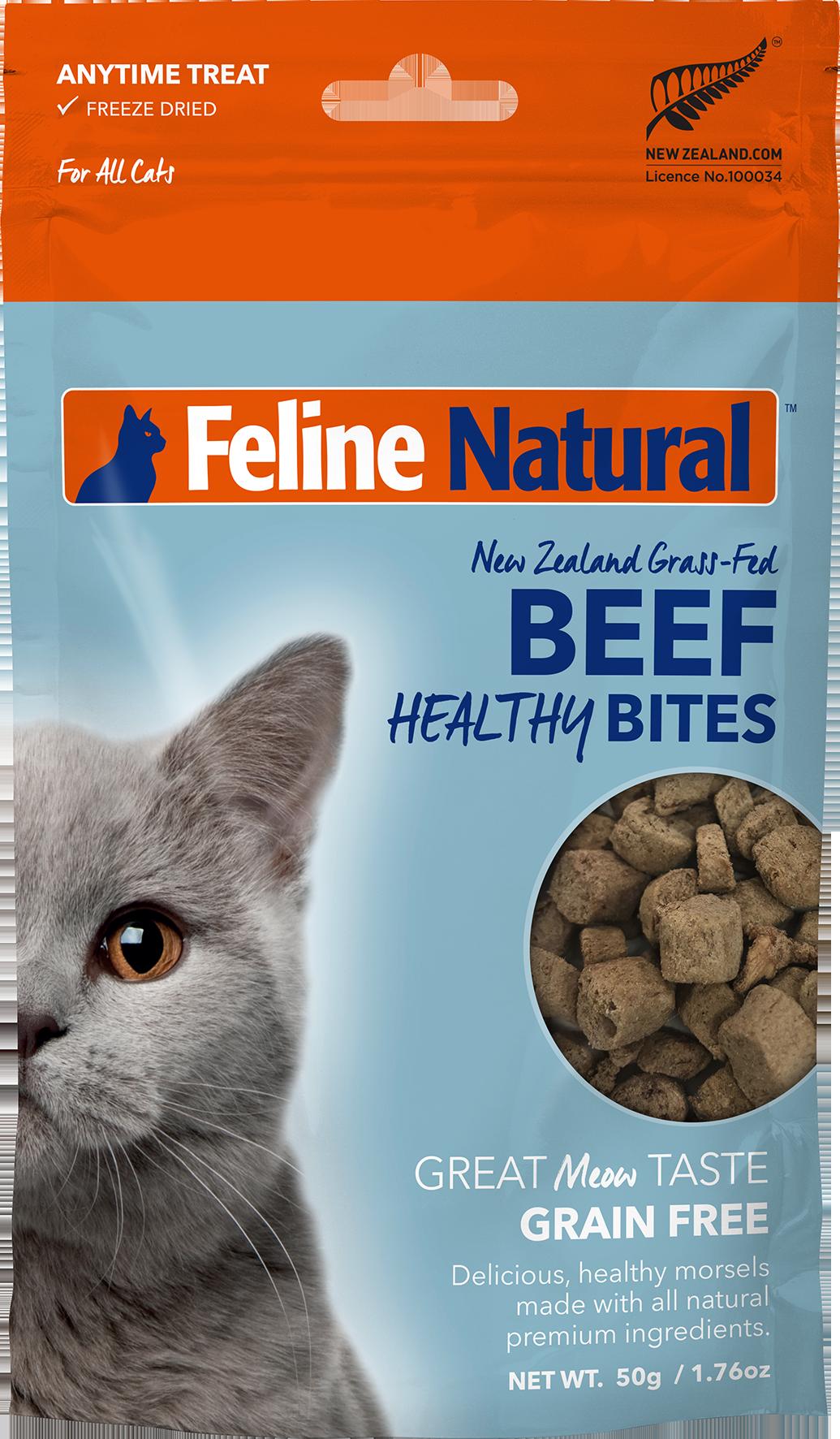 Feline Natural Feline Natural Freeze Dried Healthy Bites Beef Cat Treat 1.76oz