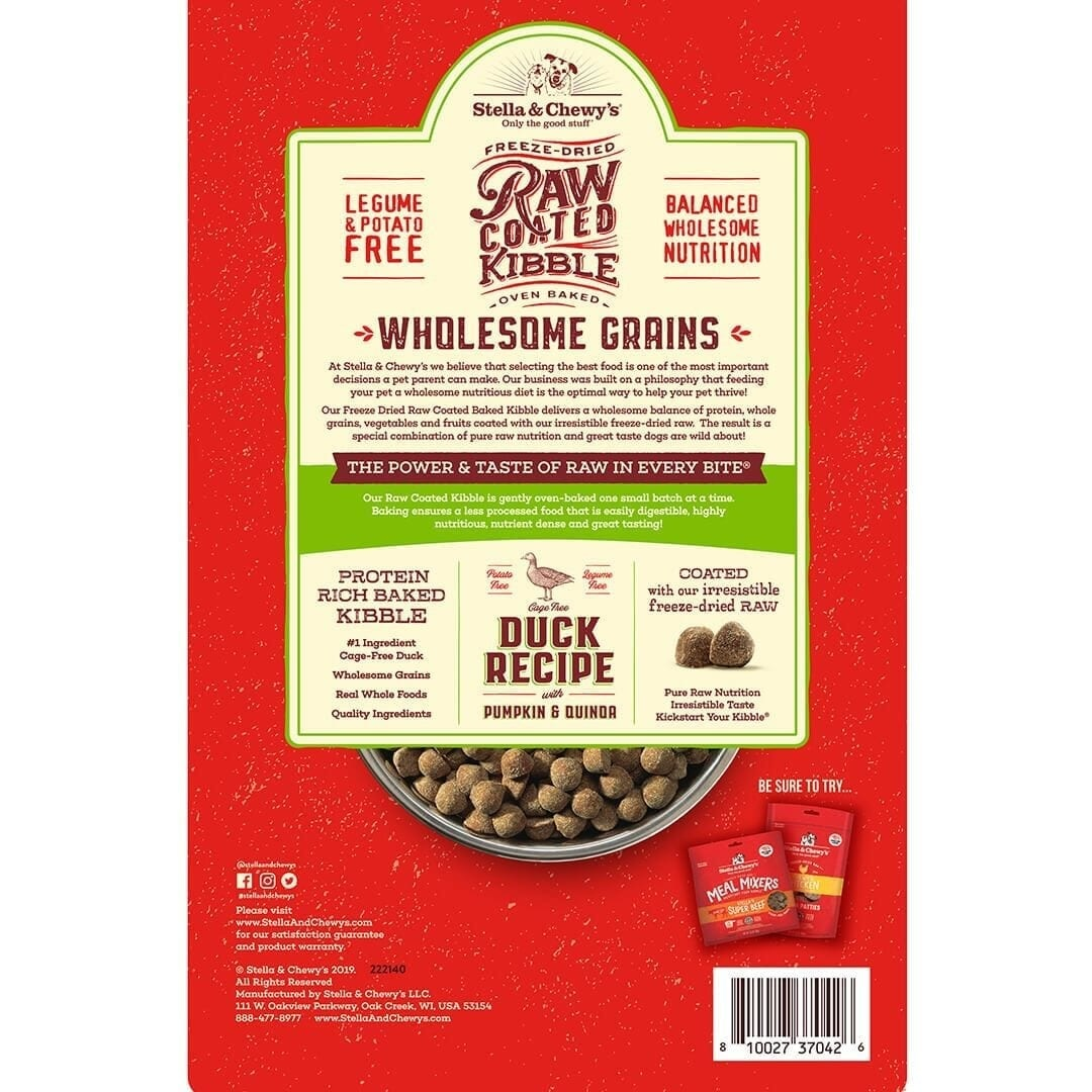 Stella & Chewy's Stella & Chewy's Raw Coated Wholesome Grains Duck, Pumpkin & Quinoa Dry Dog Food