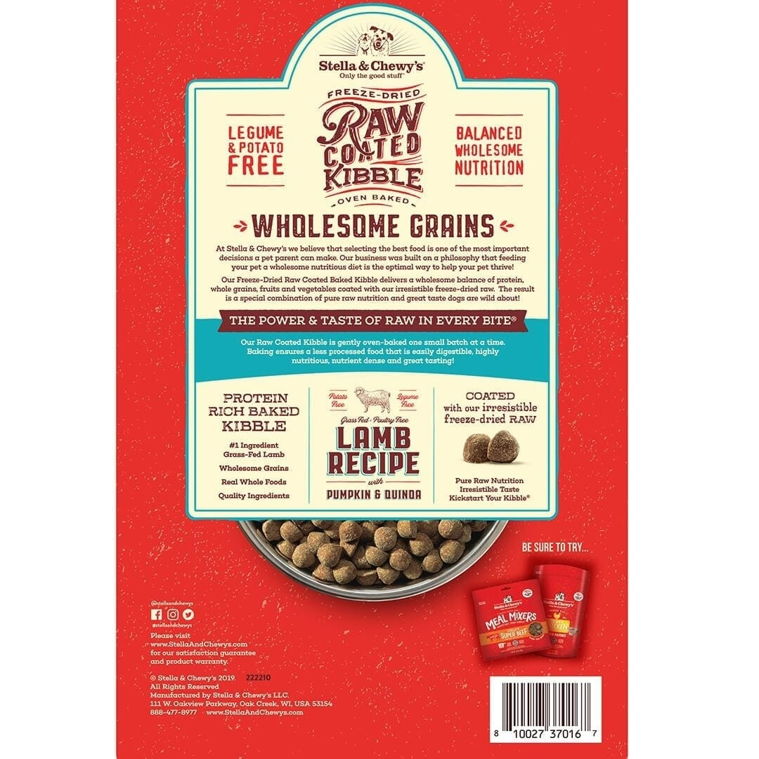 Stella & Chewy's Stella & Chewy's Raw Coated Wholesome Grains Lamb, Pumpkin & Quinoa Dry Dog Food