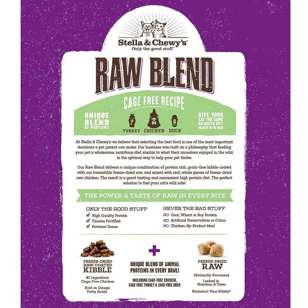 Stella & Chewy's Stella & Chewy's Raw Blend Poultry Dry Cat Food