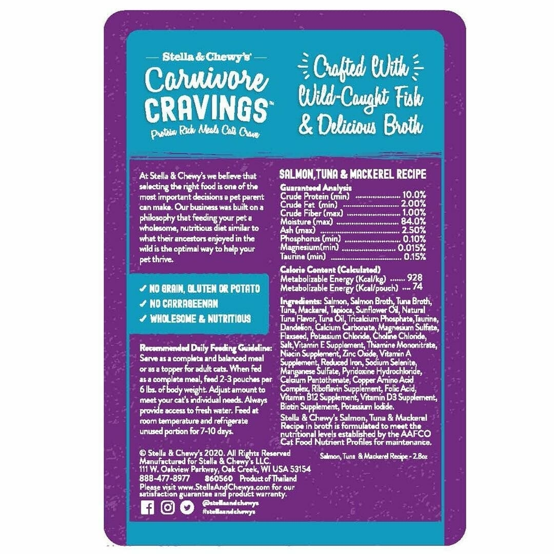 Stella & Chewy's Stella & Chewy's Carnivore Cravings Salmon & Tuna Wet Cat Food 2.8oz