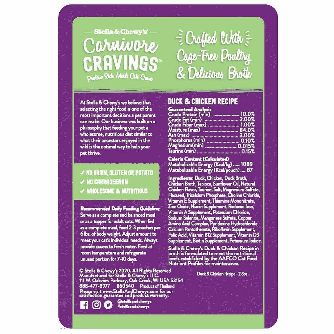 Stella & Chewy's Stella & Chewy's Carnivore Cravings Duck & Chicken Wet Cat Food 2.8oz