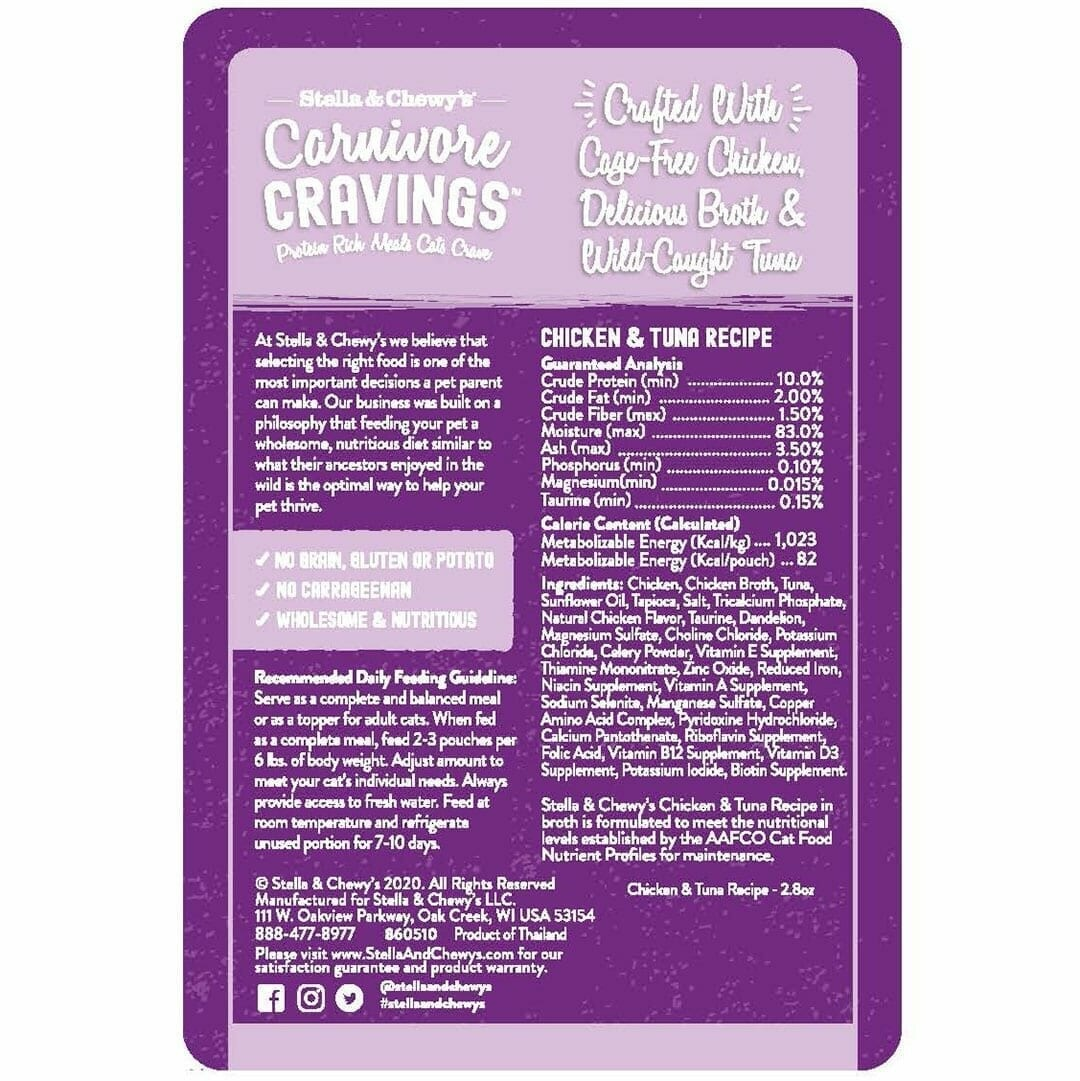 Stella & Chewy's Stella & Chewy's Carnivore Cravings Chicken and Tuna Wet Cat Food 2.8oz
