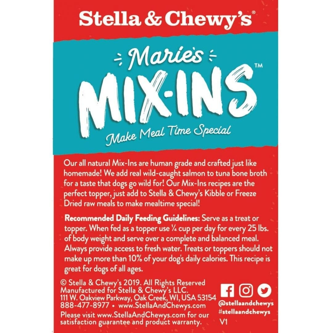 Stella & Chewy's Stella & Chewy's Marie's Mix-Ins Salmon and Pumpkin Pouch Wet Dog 5.5oz