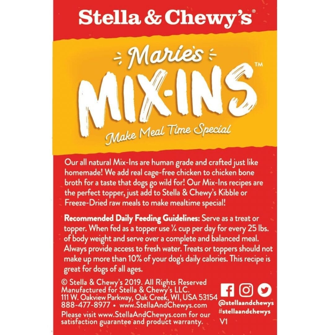 Stella & Chewy's Stella & Chewy's Marie's Mix-Ins Chicken and Pumpkin Pouch Wet Dog 5.5oz