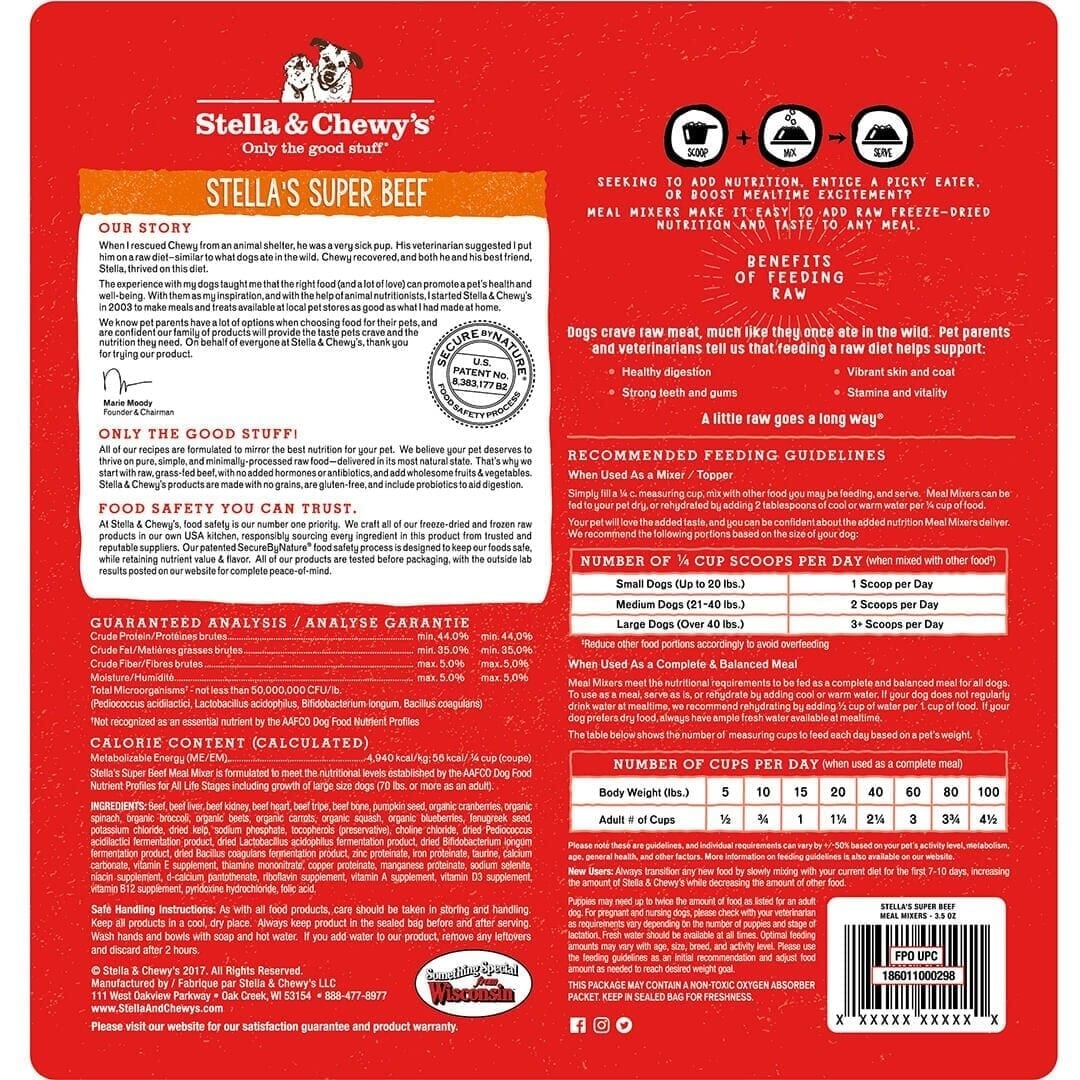 Stella & Chewy's Stella & Chewy's Freeze Dried Meal Mixers Stella's Super Beef Dog Food
