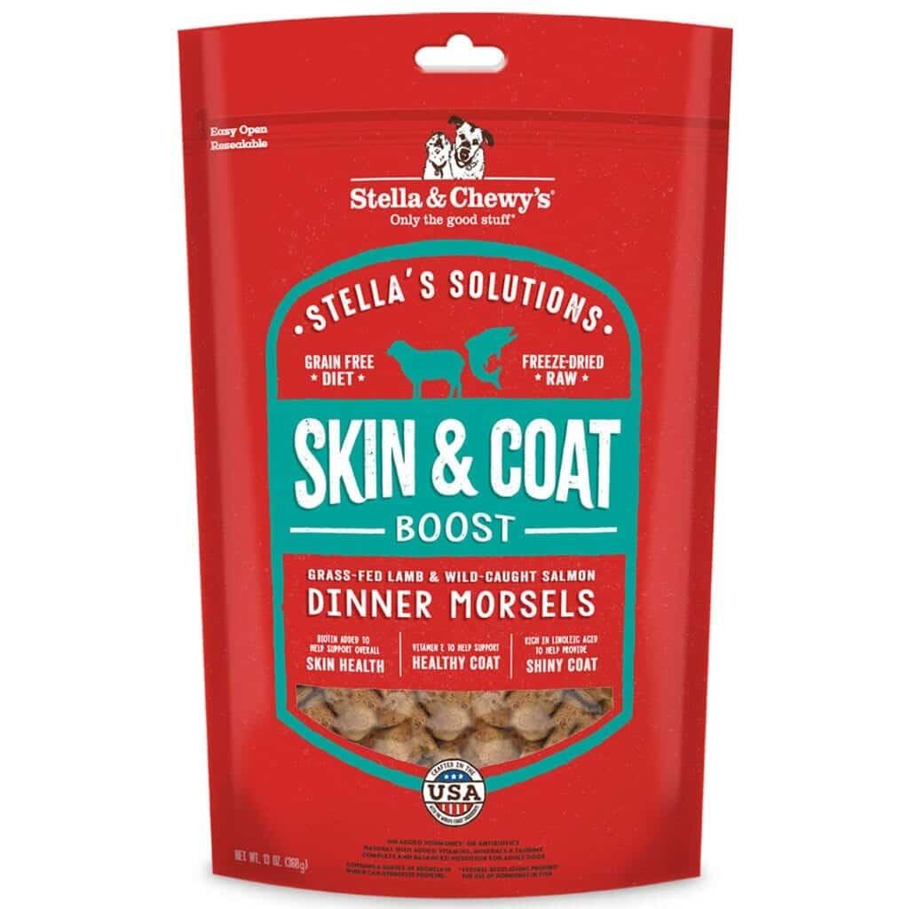 Stella & Chewy's Stella & Chewy's Stella Solutions Dinner Morsels Skin & Coat Boost Lamb & Salmon Freeze Dried Dog Food 13oz