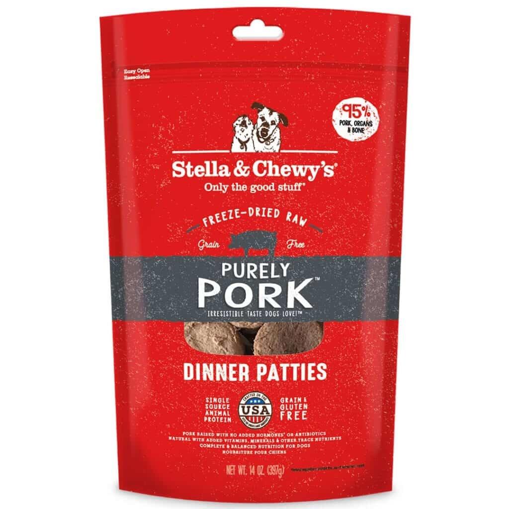 Stella & Chewy's Stella & Chewy's Dinner Patties Purely Pork Freeze Dried Dog Food 14oz