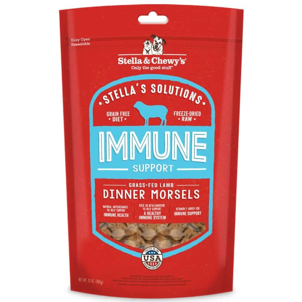 Stella & Chewy's Stella & Chewy's Stella Solutions Freeze Dried Dinner Morsels Immune Boost Lamb Dog Food 13oz