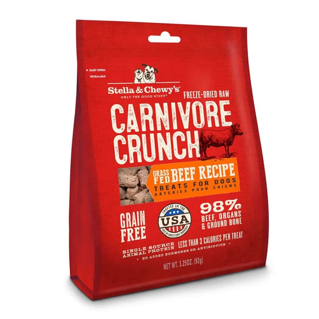 Stella & Chewy's Stella & Chewy's Freeze Dried Carnivore Crunch Grass-Fed Beef Dog Treat 3.25oz