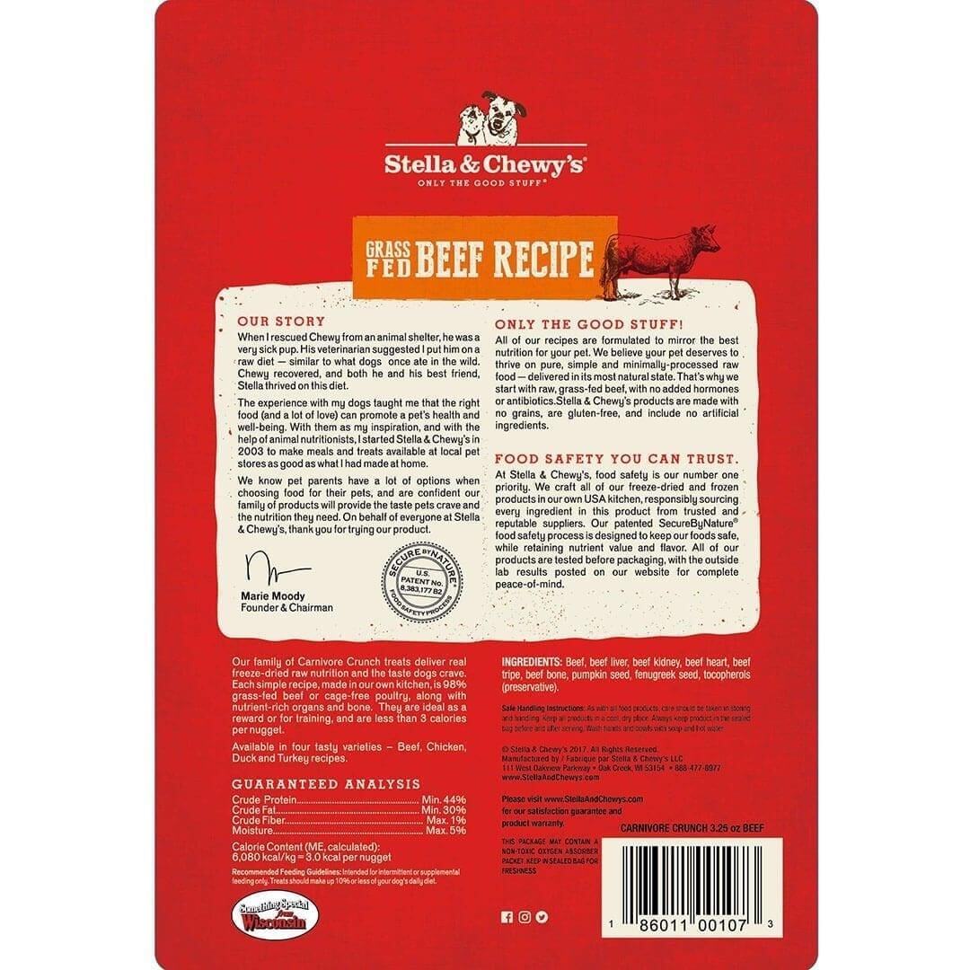 Stella & Chewy's Stella & Chewy's Carnivore Crunch Grass-Fed Beef Freeze Dried Dog Treat 3.25oz
