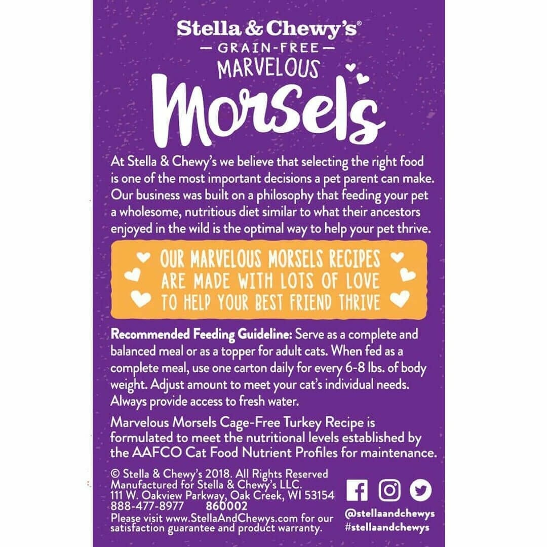 Stella & Chewy's Stella & Chewy's Marvelous Morsels Cage-Free Turkey Wet Cat Food 5.5oz