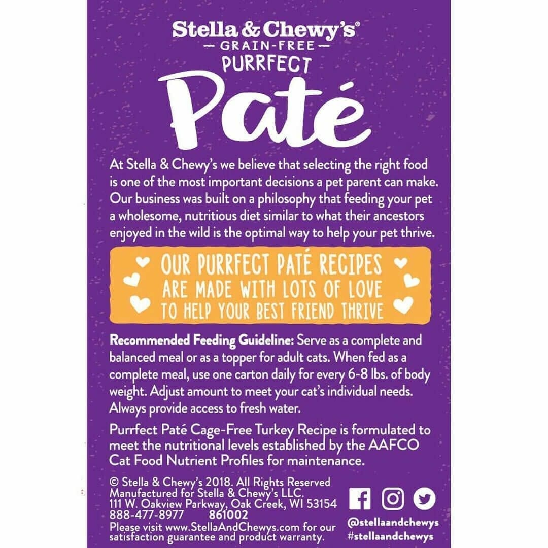 Stella & Chewy's Stella & Chewy's Purrfect Pate Cage Free Turkey Wet Cat Food 5.5oz