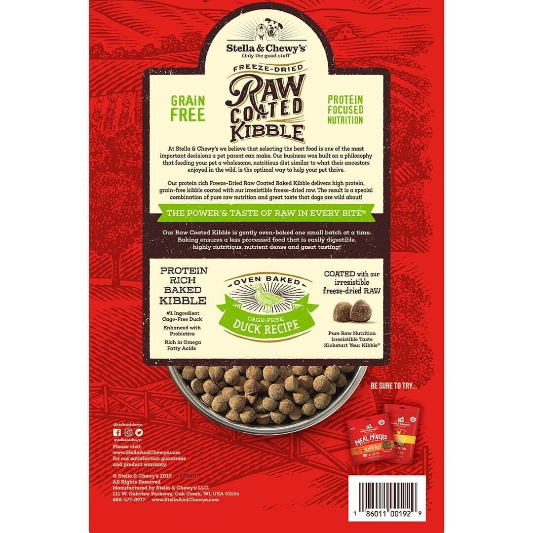 Stella & Chewy's Stella & Chewy's Raw Coated Cage-Free Duck Dry Dog Food