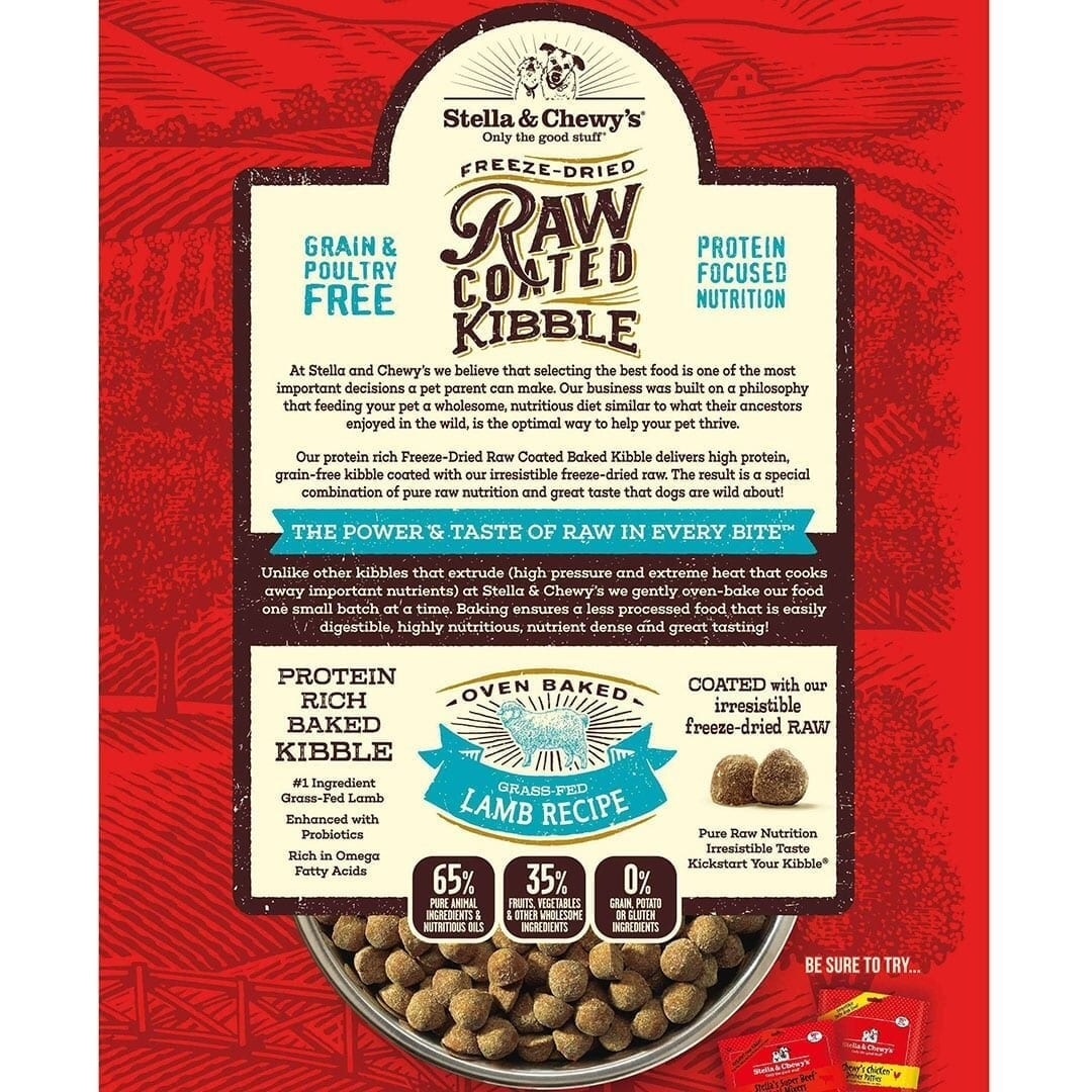 Stella & Chewy's Stella & Chewy's Raw Coated Grass-Fed Lamb Dry Dog Food