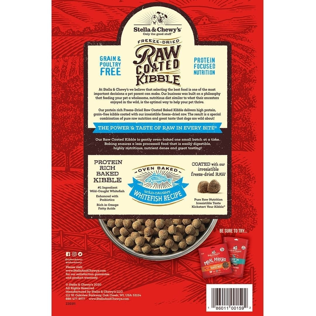 Stella & Chewy's Stella & Chewy's Raw Coated Wild-Caught Whitefish Dry Dog Food