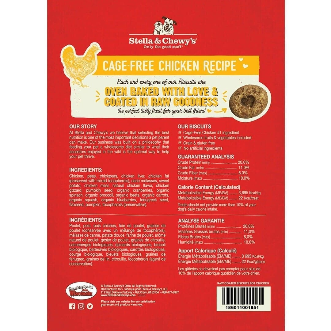 Stella & Chewy's Stella & Chewy's Raw Coated Biscuits Chicken Dog Treats 9oz