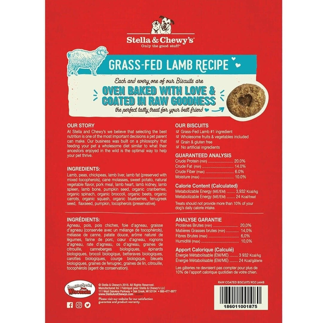 Stella & Chewy's Stella & Chewy's Raw Coated Biscuits Lamb Dog Treat 9oz