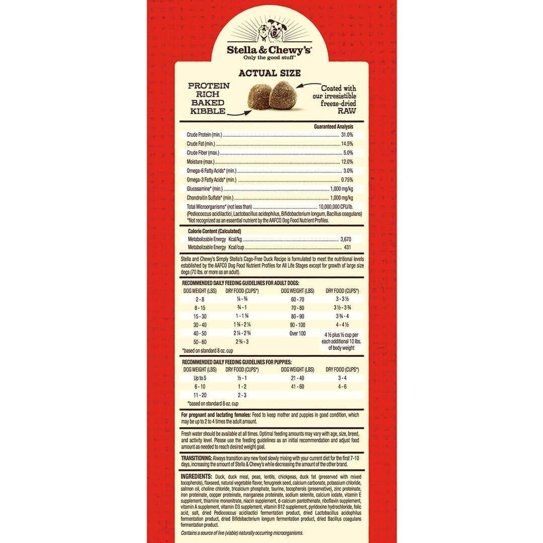 Stella & Chewy's Stella & Chewy's Simple Limited Ingredient Duck Dry Dog Food