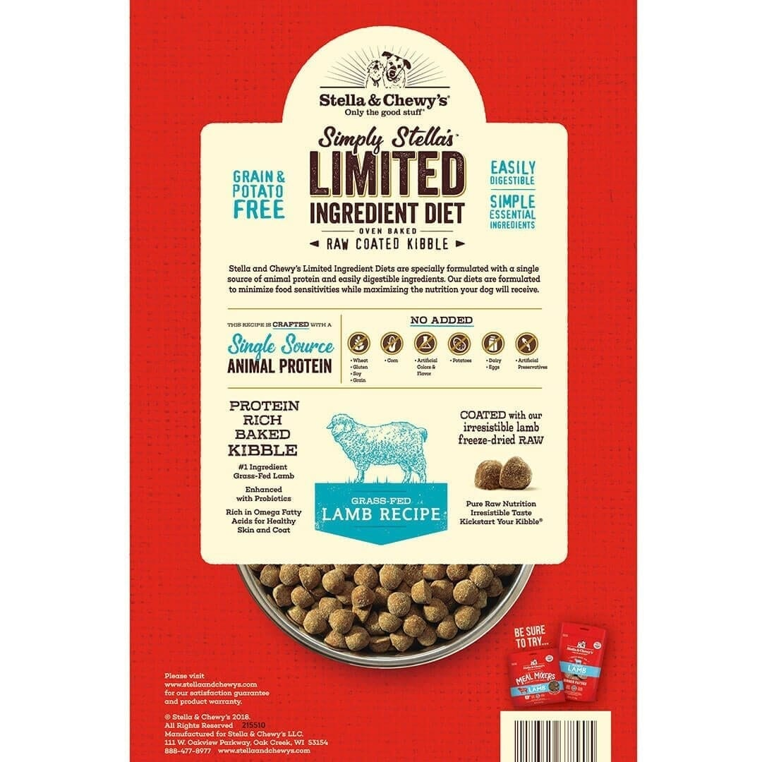 Stella & Chewy's Stella & Chewy's Simple Limited Ingredient Lamb Dry Dog Food