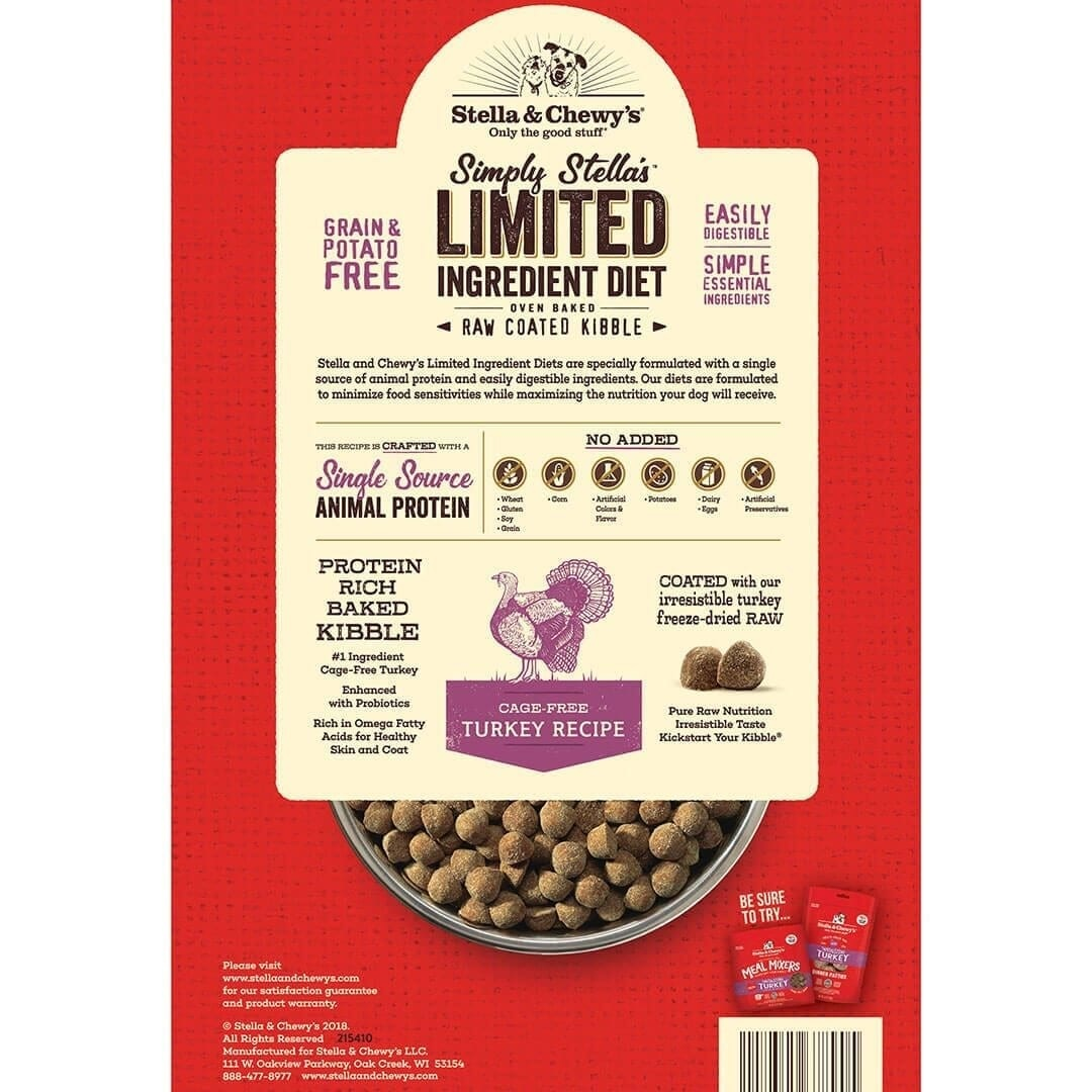 Stella & Chewy's Stella & Chewy's Simple Limited Ingredient Turkey Dry Dog Food