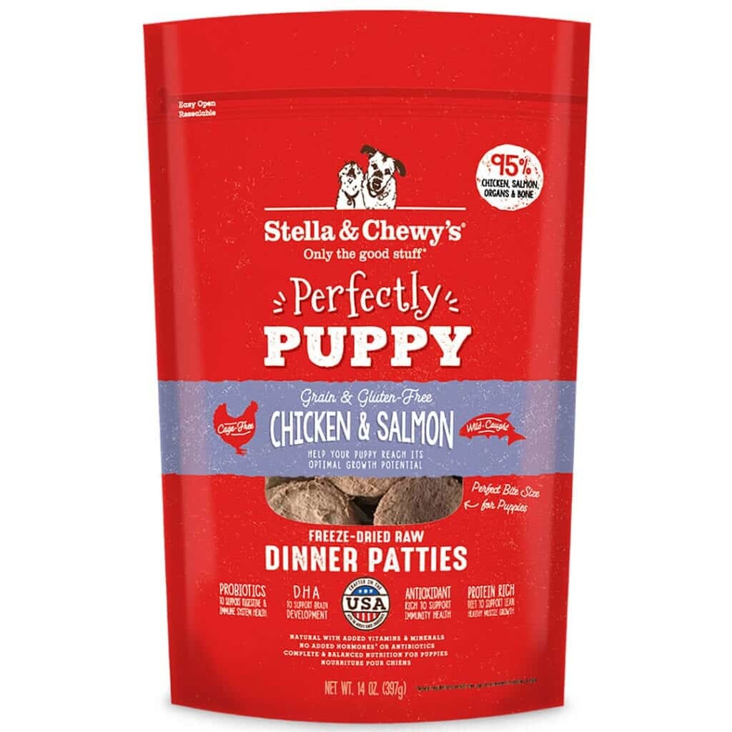 Stella & Chewy's Stella & Chewy's Dinner Patties Perfectly Puppy Chicken & Salmon Freeze Dried Dog Food