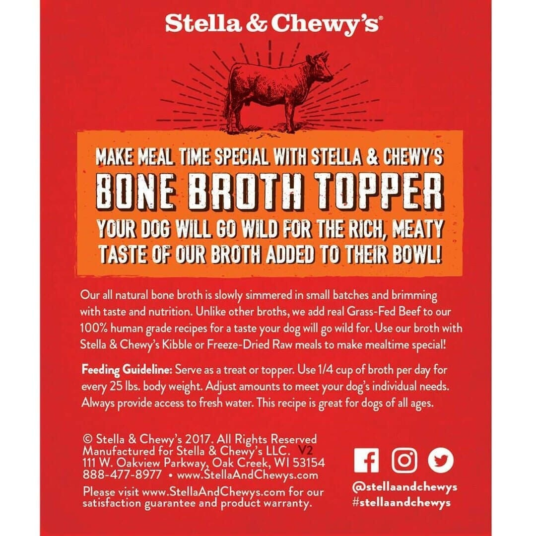 Stella & Chewy's Stella & Chewy's Broth Topper Grass-Fed Beef Wet Dog Food 11oz
