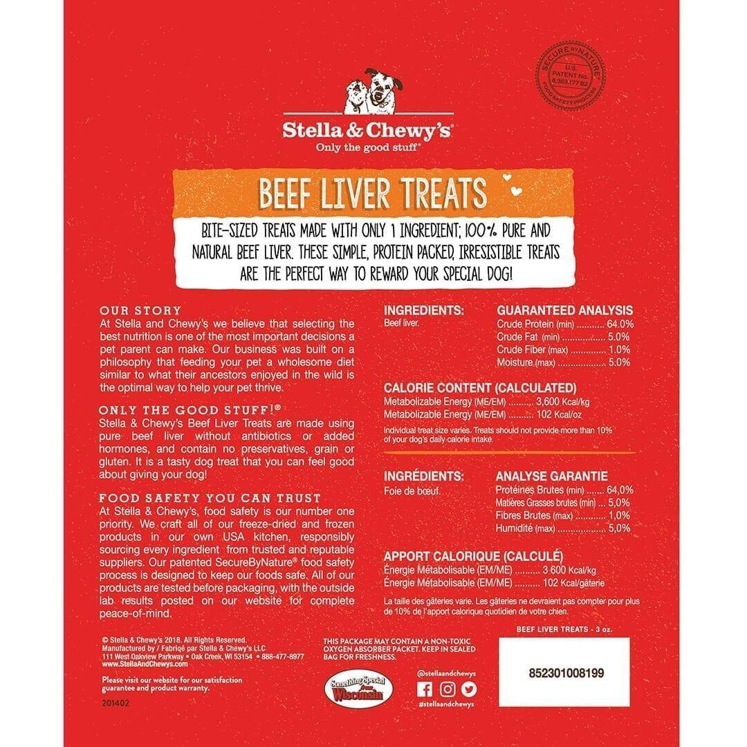 Stella & Chewy's Stella & Chewy's Freeze Dried Beef Liver Dog Treat 3oz