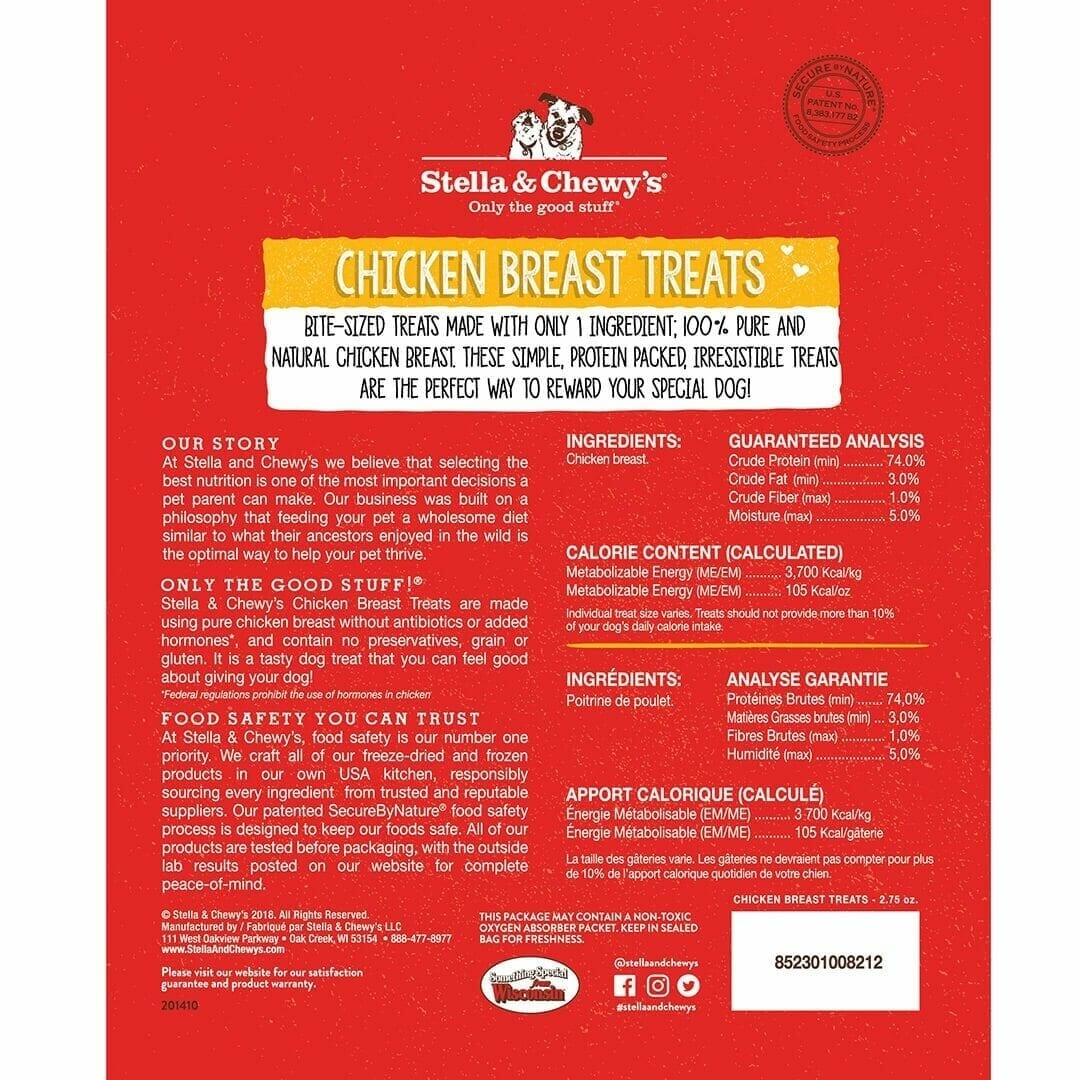 Stella & Chewy's Stella & Chewy's Chicken Breast Freeze Dried Dog Treat 2.75oz