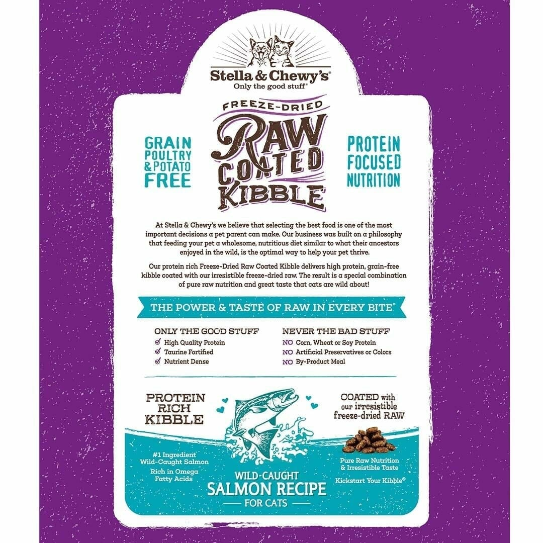 Stella & Chewy's Stella & Chewy's Raw Coated Salmon Dry Cat Food