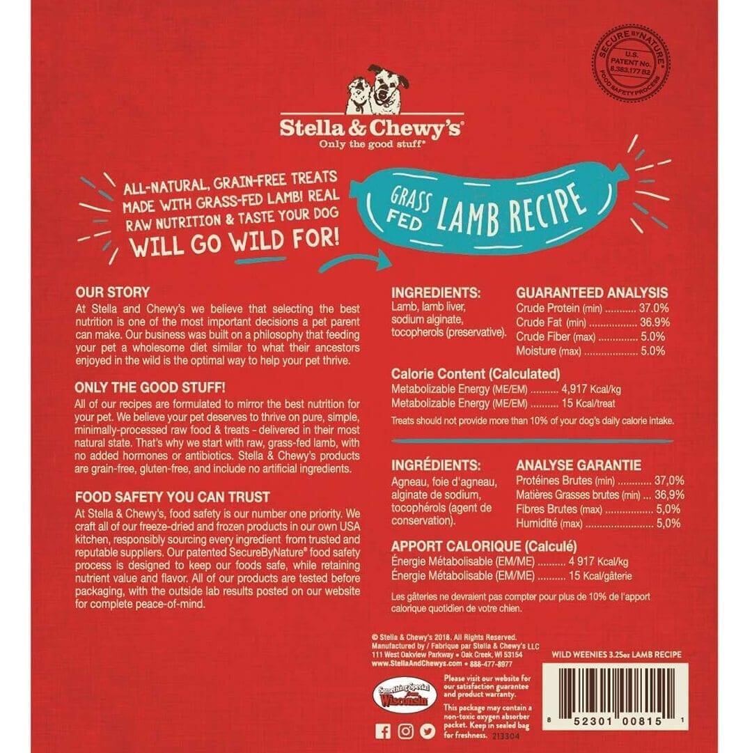 Stella & Chewy's Stella & Chewy's Wild Weenies Lamb Freeze Dried Dog Treat 3.25oz