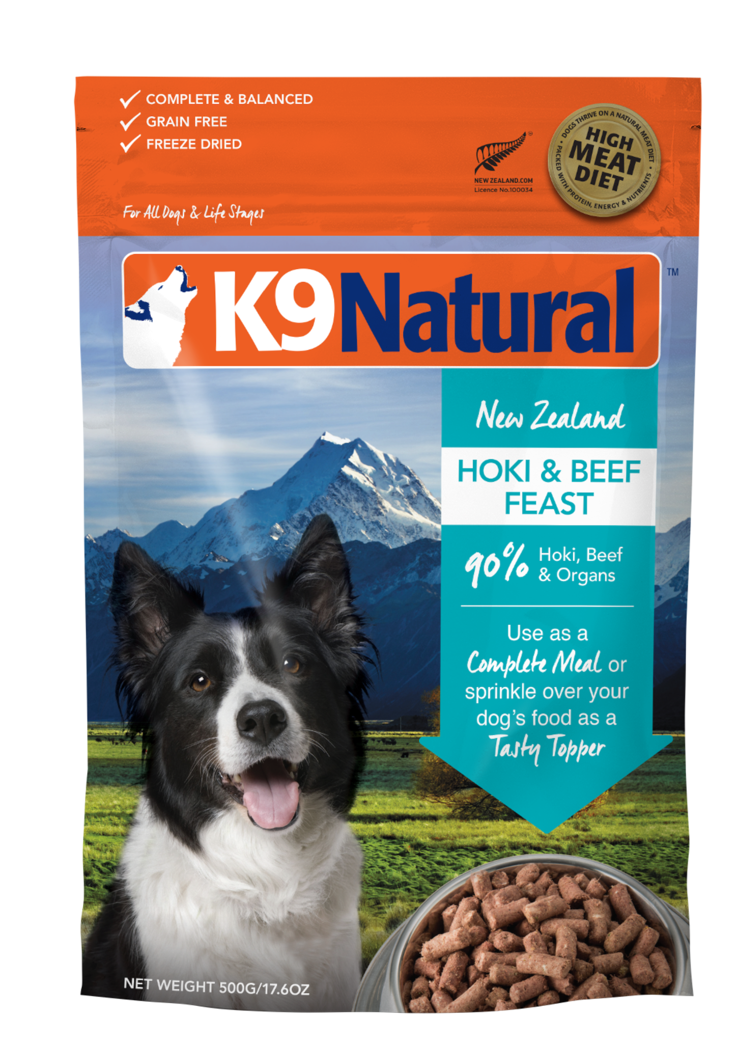 K9 Natural K9 Natural Freeze Dried Hoki & Beef Feast Dog Food 17.6oz