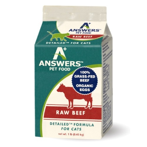 Answers Answers Detailed Beef Raw Cat Food 1#