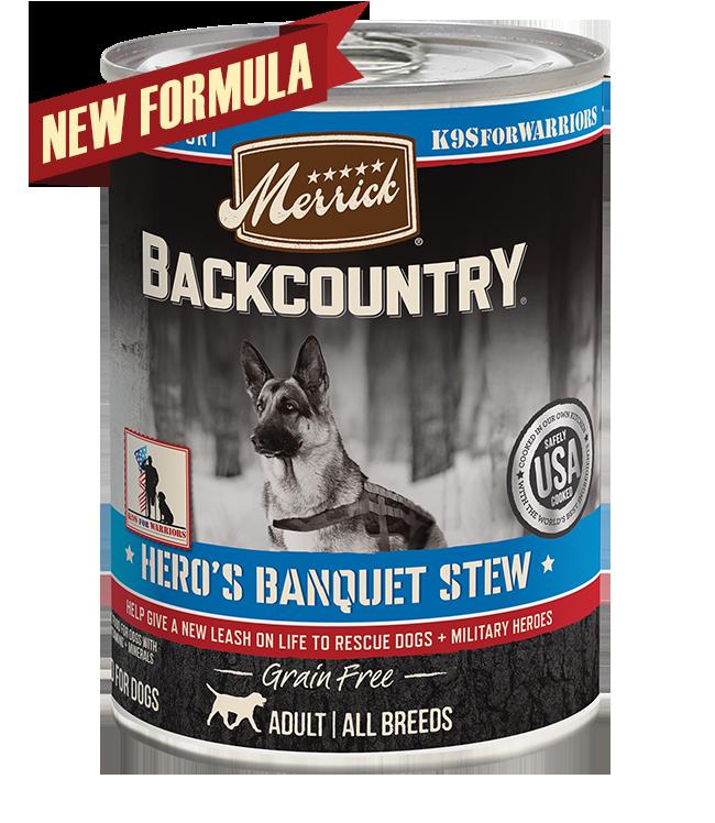 Merrick Merrick Backcountry Hero's Banquet Stew Wet Dog Food 13oz