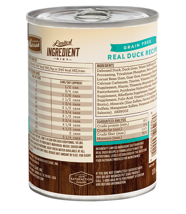 Merrick Merrick Limited Ingredient Diet Real Duck Wet Dog Food 12.7oz