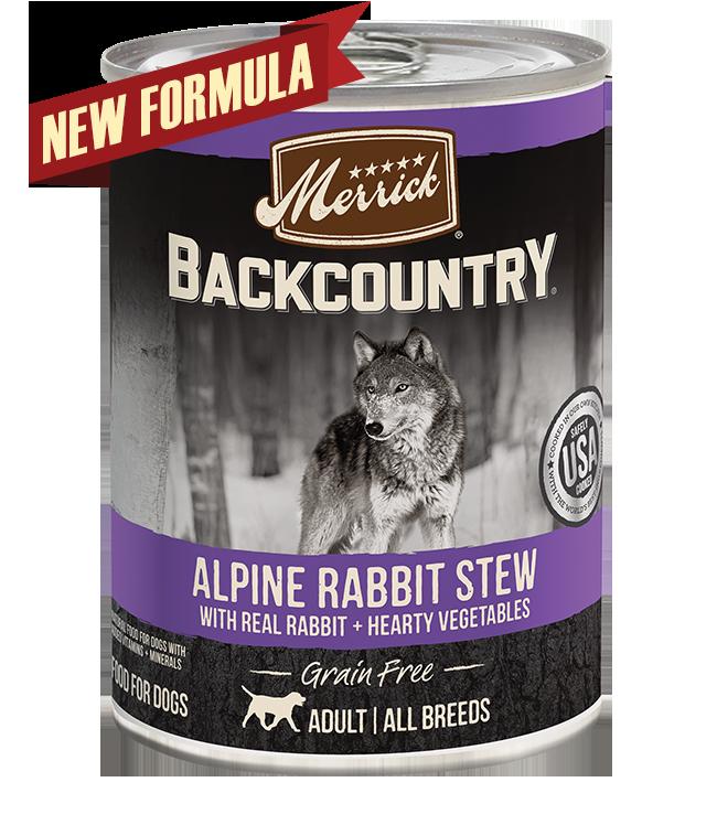 Merrick Merrick Backcountry Alpine Rabbit Stew Wet Dog Food 12.7oz