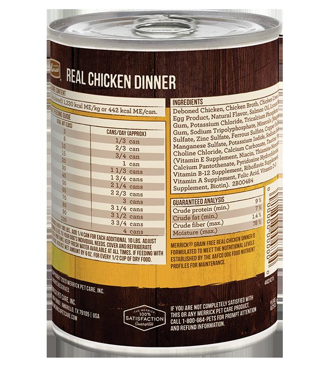 Merrick Merrick 96% Real Chicken Wet Dog Food 12.7oz